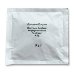 4,2 gram enzymen, voloende voor een batch van 25 liter mash